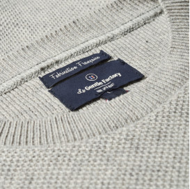 "Sweat homme bleu fil teint - Made in France ""La French Touch"""