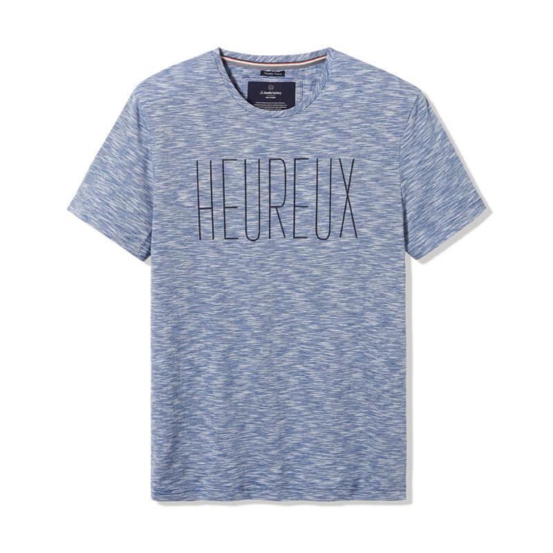 """Tee-shirt Philibert printé """"heureux"""""""