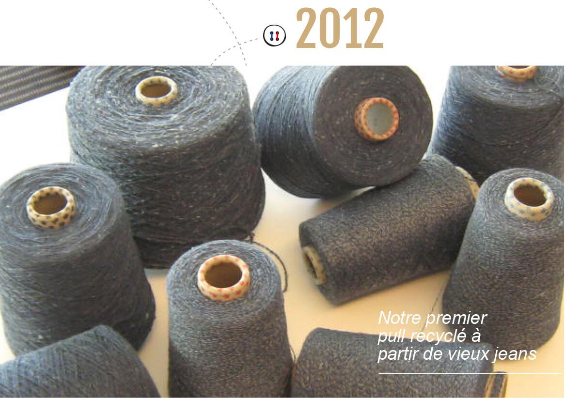 Notre premier pull recyclé à partir de vieux jeans – La Gentle Factory