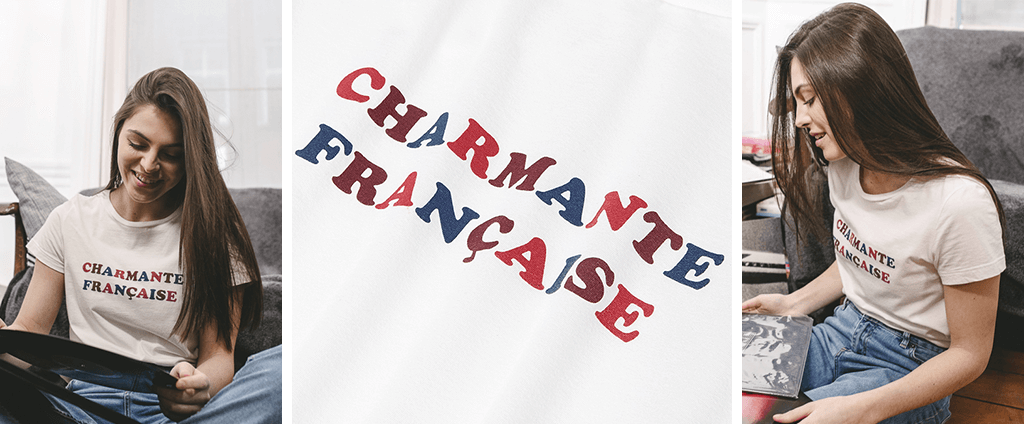 T-shirt charmante française made in france