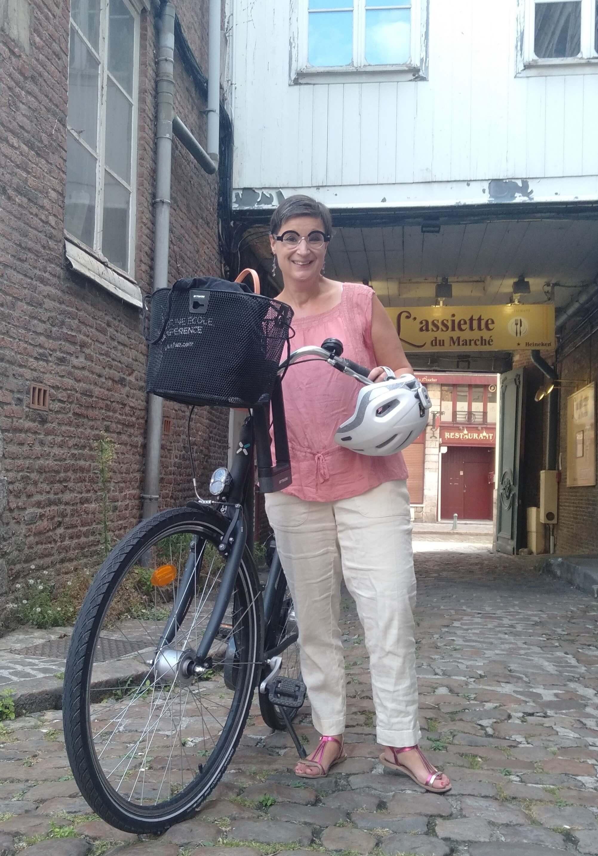Sophie à vélo