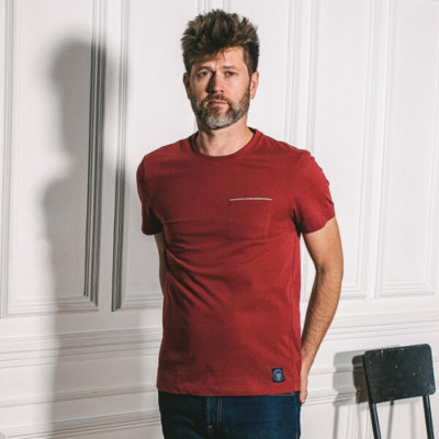 Tee-shirt coton fibres biologiques made in France