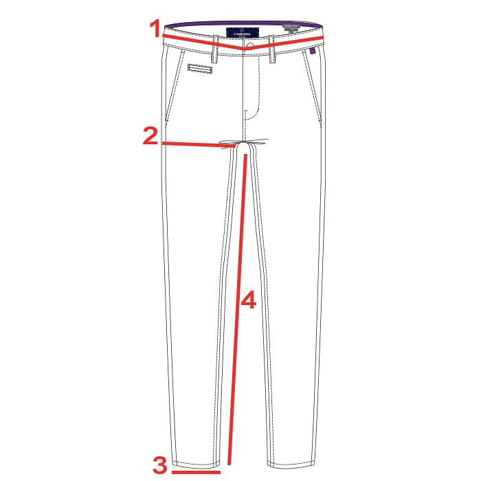 CROQUIS GUIDE TAILLES CHINO HOMME