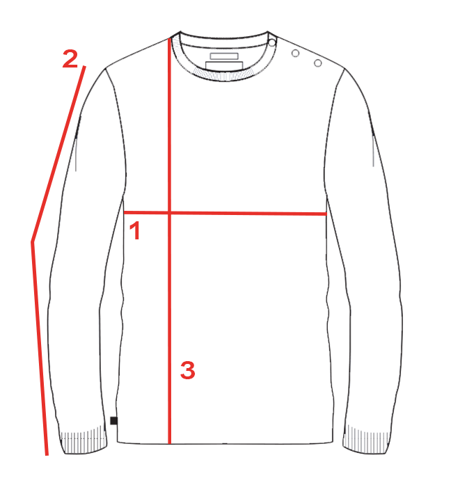 CROQUIS GUIDE TAILLE PULL HOMME