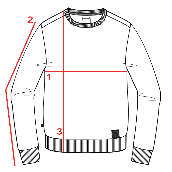 CROQUIS GUIDE TAILLE SWEAT