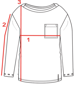 CROQUIS GUIDE TAILLE TEE-SHIRT LOOSE FEMME