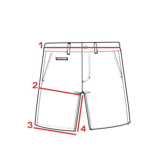 CROQUIS GUIDE TAILLES BERMUDA HOMME