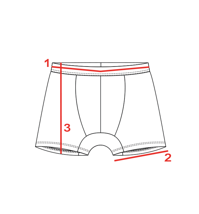 CROQUIS GUIDE TAILLES BOXER HOMME