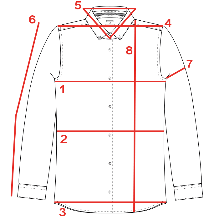 CROQUIS GUIDE TAILLES CHEMISE HOMME