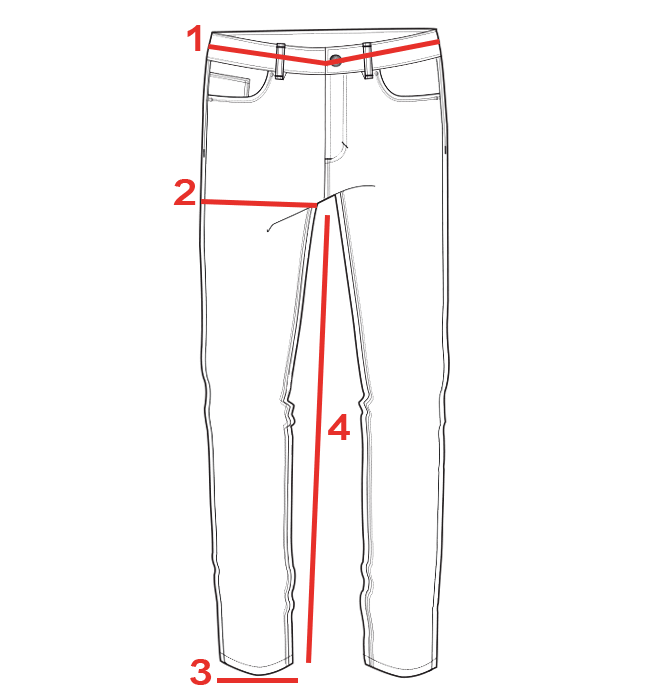 CROQUIS GUIDE TAILLES JEAN FEMME
