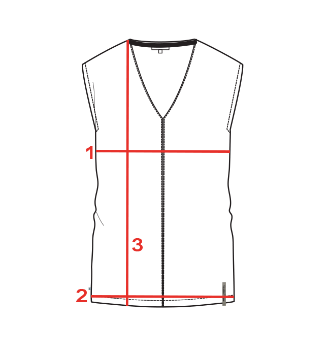 CROQUIS GUIDE TAILLES TOP FEMME